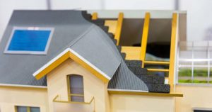model-of-house-thermal-insulation-of-roof-concept