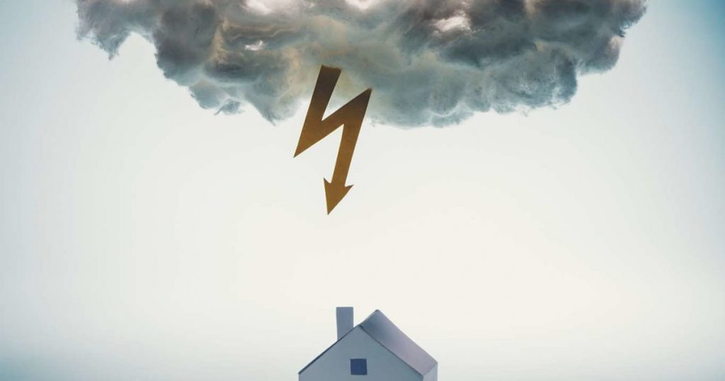 DAMAGES TO ROOF BY LIGHTNING